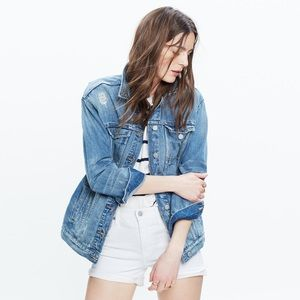 Madewell Oversized Denim Jacket In Jessie Wash
